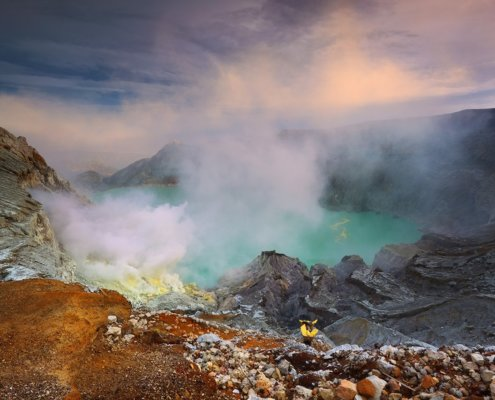 Cover photo for travel photography article about visiting Indonesia's Kawah Ijen by Jessy Eykendorp