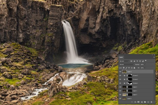 Typical Photoshop layers & masks Workflow for Landscape Photographer by Jay Patel