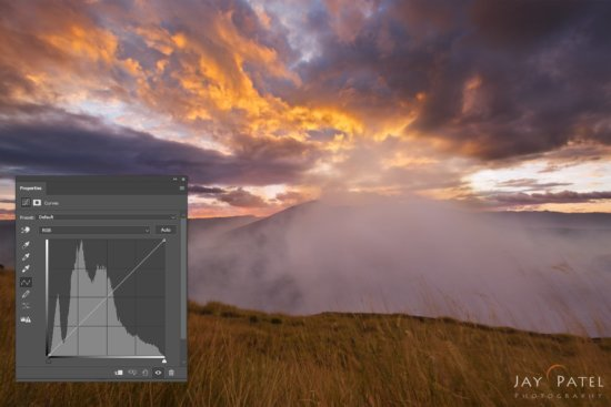 Photoshop Curves Adjustment for Landscape Photography by Jay Patel