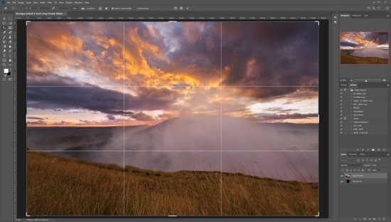 Crop too in Photoshop for editing your landscape photos by Jay Patel