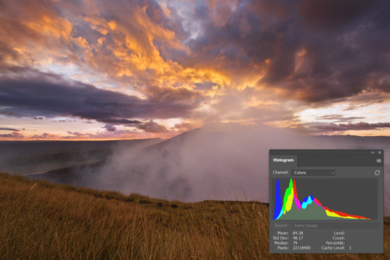 Histogram in photography shown in Photoshop by Jay Patel