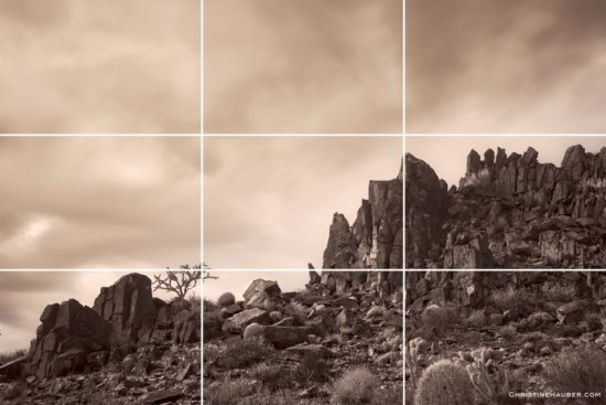 Landscape photography composition showing the Rule of Thirds by Christine Hauber