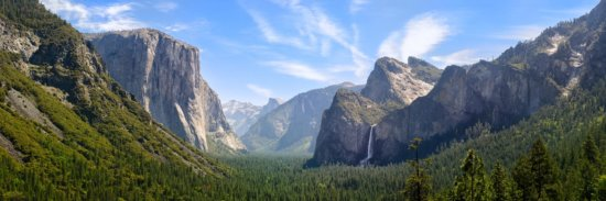 Panoramic photography composition from Yosemite Valley, California by Francesco Carucci