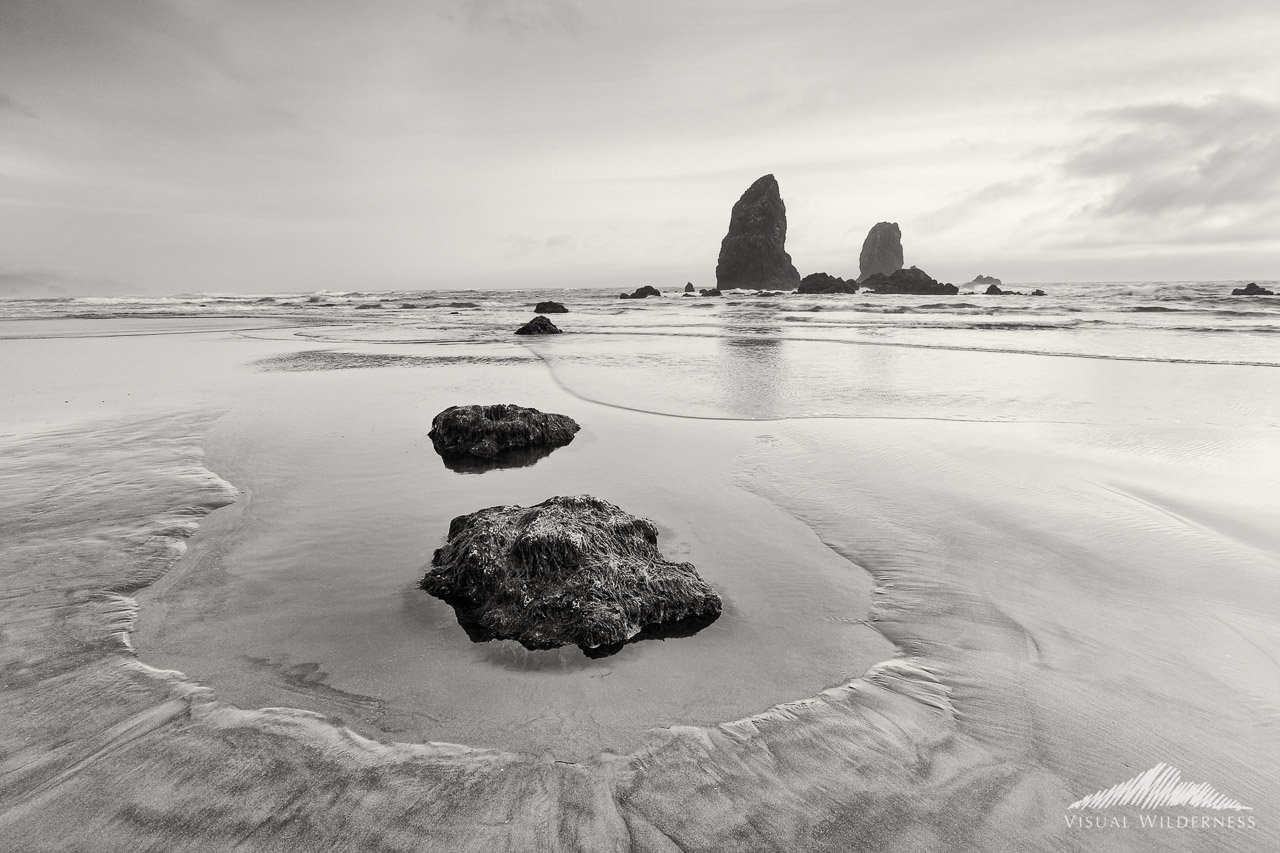 Black & White Landscape Photography from Canon Beach, Oregon