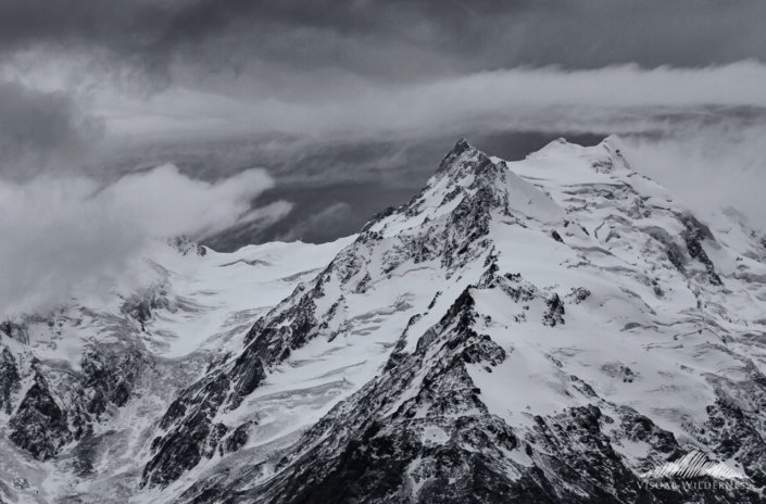 Mt. Cook, New Zealand Black & White conversion in Silver Efex Pro by Kate Siliva