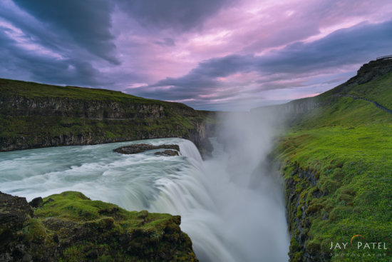 Soft light in landscape photography at Gullfoss, Iceland by Jay Patel