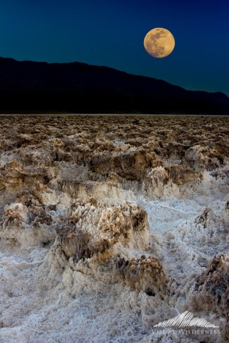 Night Photography with Moon in Death Valley National Park, California