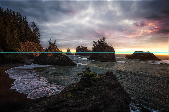 Oregon landscape photography with tilted horizon