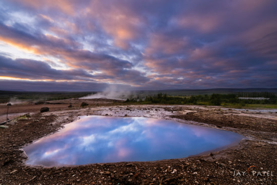 High contrast landscape photo rom Geysir, Iceland by Jay Patel