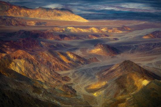 Dappled light in Death Valley National Park, California.