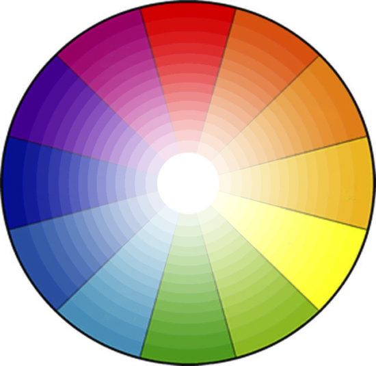 Color wheel showing variation of light tones by Anne Belmont
