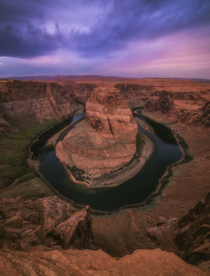 Iconic landscape photography location of Horseshoe Bend in Northern Arizona by Peter Coskun