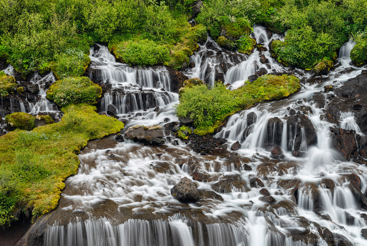Waterfall photography from Hraunfossar, Iceland by Jay Patel