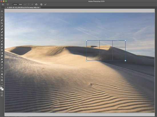 Selection for Perspective Correction in Photoshop by Lace Andersen