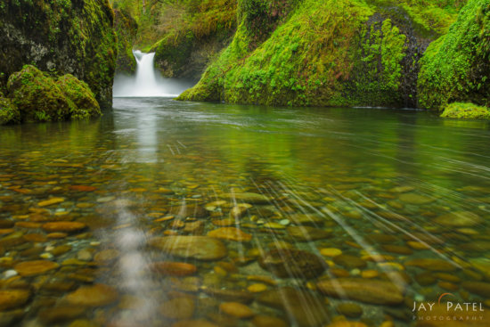 Waterfall Photography from Punch Bowl Falls, Columbia River Gorge, Oregon by Jay Patel