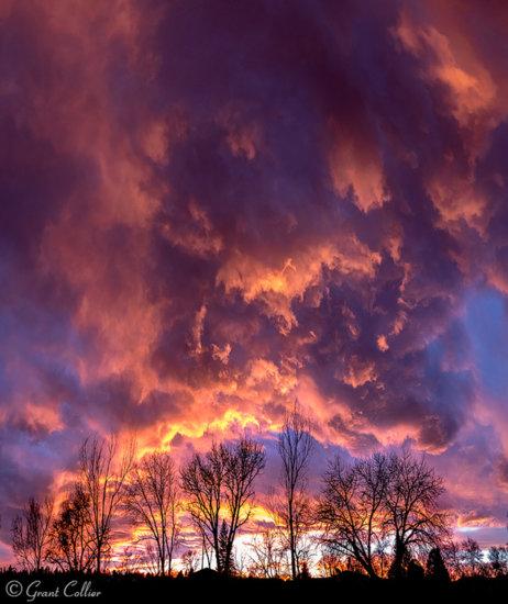 sunset over Colorado