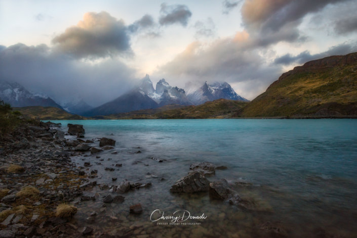 Long Exposure Photography of Patagonian Sunset with Circular Polarizer and ND Filters by Chrissy Donadi