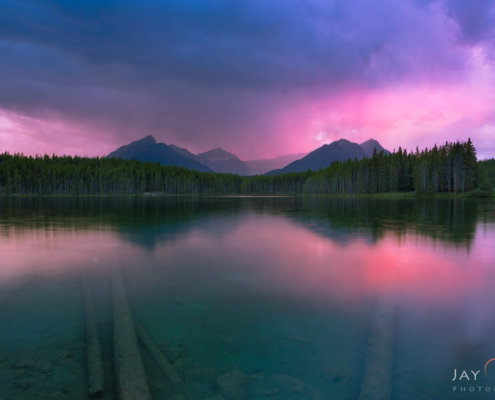 Landscape photography from Herbert Lake, Banff National Park, Alberta, Canada by Jay Patel