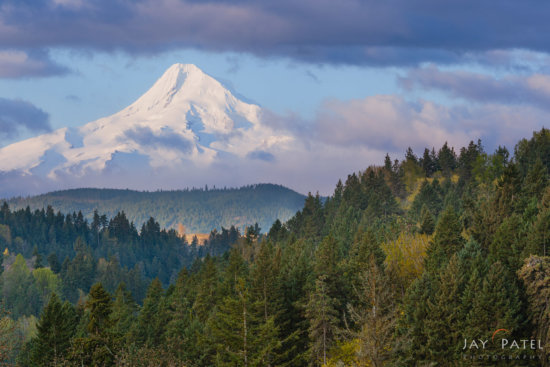 Rule of Thirds used for mountain photography composition at Mt. Hood Wilderness, Oregon by Jay Patel