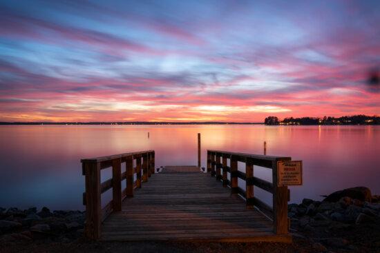Photographing sunset after using NIK Plugins by Padma Inguva