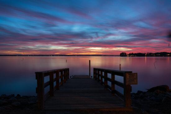Photographing sunset before using NIK Plugins by Padma Inguva
