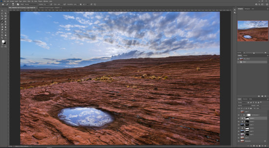 Photoshop Layers and Mask workflow for Nature photography from Glenn Canyon Recreational Area, Paige, Arizona