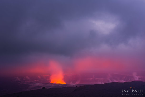 Temporal exposure blending created using Photoshop Layers & Masks - Volcanoes National Park, Big Island, Hawaii by Jay Patel