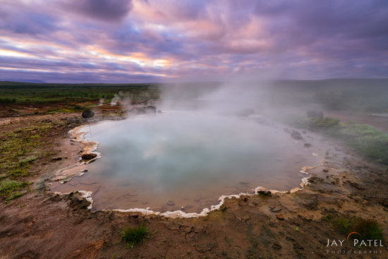 Landscape photography created with manual exposure blending in Photoshop, Geysir, Iceland