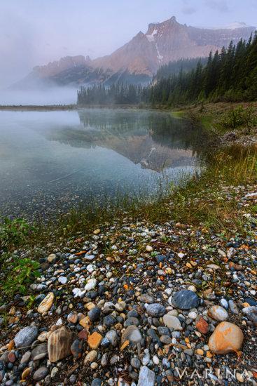 Alternate nature photography composition before sunrise at Graveyard Flats, Banff National Park, Canada by Varina Patel